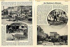 Ein Markttag in Alkmaar ( Hollands Käse-Markt ) Historical Memorabilia 1914