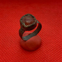 Ancient bronze beautiful ring with Stone