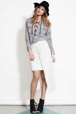Rayon Straight, Pencil Machine Washable Striped Skirts for Women