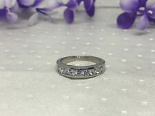 925 Sterling Silver Cubic Zirconia 1ct. wedding band ring.