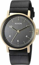 Nixon Men's Stark A11941031-00 42mm Black Dial Leather Watch