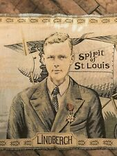 Vintage Charles Lindbergh 1927 Tapestry New York to Paris Solo Crossing Flight