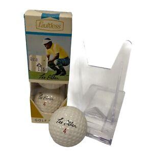 LOT OF 3-LEE ELDER Golf Ball 3 Rawlings Faultless Vintage 1969 Collectors SLEEVE
