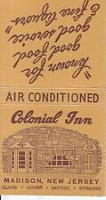 Colonial Inn 54 Main Street Madison New Jersey NJ Old Matchcover