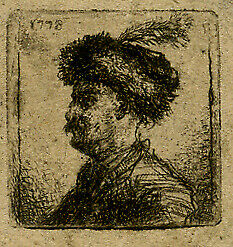 Antique Master Print-GENRE-MAN-FIGURE-BEARD-FUR HAT-Norblin de la Gourdaine-1778