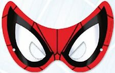 Spiderman Party Supplies - Pary Masks 8 pack - Cardboard with Adjustable Elastic