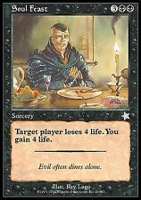 Soul Feast FINE PLAYED Starter 1999 MTG Magic Cards Black Uncommon