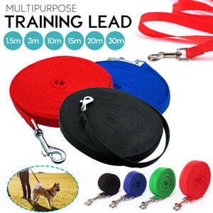 Long Lead Dog Horse Training Tracking Lunge 5ft 10ft to 98ft Any Size ALL Colors