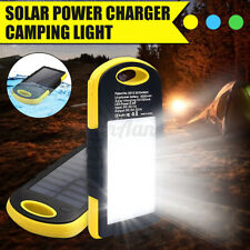 Portable Waterproof Solar Power Bank Phone Charger Camping Work Light