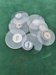 Antique Vintage  Watch, Pocket Watch Mineral Glass Crystals VTF 13.1 - 44.1 mm