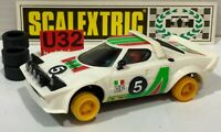 Scalextric exin C-4055 Lancia Stratos HF #5 White 2º Serie Top Zustand