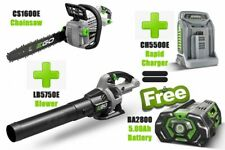 Battery garden Tool set Chainsaw, Leaf Blower,With Rapid charger