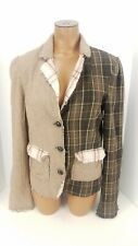 BKE Buckle Outerwear Patchwork Blazer 3 Button Coat Wool Jacket Sz Large L