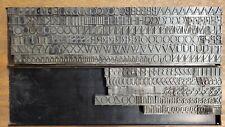 Vintage Metal Letterpress Font 75