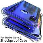 For Xiaomi Redmi Note 9S 10 8 7 Pro Shockproof Clear Case Cover Protect Silicone
