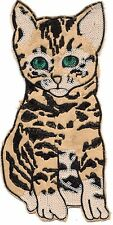 Sequin and Embroidery Patch: Large Faux-Fur Bobtail Cat