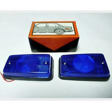 BMW E30 316 318 325 M3 CAR REFLECTOR WITH BULB SIDE MARKER LAMP LIGHTS BLUE PAIR