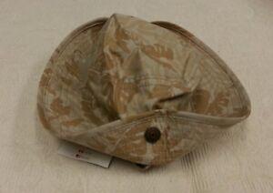 NWT Gymboree Camo Leaf Bucket Beach Safari Hat Cap Cotton 0-6 Months Chin Strap