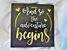 """New listing """"And so the Adventure Begins"""" Light Up Wedding Sign~Works~Needs 2 Aa batteries"""