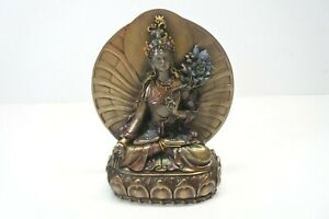 "White Tara, Buddhist Goddess of Compassion and Longevity Collection statue 6"""
