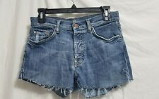7 For All Mankind cutoff Jean Shorts. women's Sz 30. button fly.