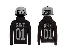 King Queen Cap Hoodie Pullover Partner Look 4er Set Hat Relation XS - 5XL