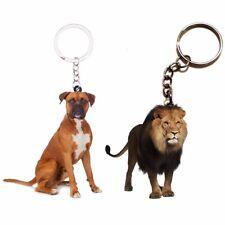 2pcs Acrylic Boxer Dog Keychain Lion Keychain Women Jewelry Men Keyring Animal