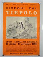Ausstellungs Plakat Disegni Del Tiepolo 1965 G.Chiesa 60er Jahre Künstler Poster