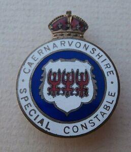 Rare Vintage Enamel Caernarvonshire Special Constable Police Badge - Caernarvon