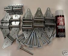 Garage Door Tune Up Kit - Hinge Roller Wheel 1 Car Door - FOR 8' TALL DOOR