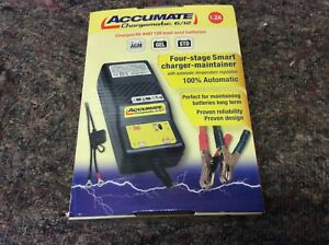 Accumate Chargematic 6/12, Charges 6v and 12v Lead-acid batteries.