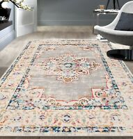 Rugshop Bohemian Medallion Distressed Design Area Rug