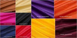 Pure Dupioni Soie Main Surgit Tissu De Indien Vente Par 4.6m Couture GB