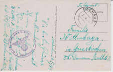 1943 Germany Dachau Concentration Camp Guard Waffen SS Feldpost postcard Cover