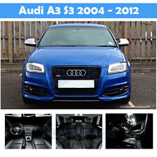 AUDI A3 8P WHITE INTERIOR UPGRADE ERROR FREE LED LIGHT KIT SET SMD S3 14 SE