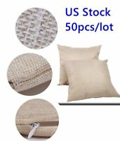 Linen Sublimation Blanks Throw Pillow Case Cushion Cover DIY Printing Graphic US