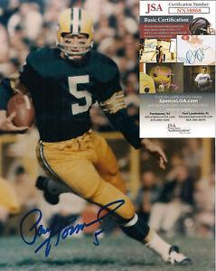 Paul Hornung Signed 8x10-JSA COA-Football Green Bay Packers-Hall of Fame D-2020
