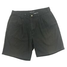 647e9a8c7bc900 Vtg NIKE GOLF Shorts Adult Size 34 Waist Black Denim Pleated Front Spell  Out Men