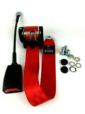 Horizontal Mount 3 Point Inertia RED Seat Belt | E Approved | Fits Many Vehicles