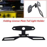 Motorcycle Flip Up License Plate Eliminator Bracket Adjustable Tail Light Holder