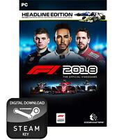 F1 2018 FORMULA 1 ONE HEADLINE EDITION PC STEAM KEY