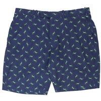 RLX Ralph Lauren Men 38 Grasshopper Shorts Golf Blue All Over Polyester Stretch