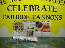 VINTAGE 1958 60MM BIG BANG CANNON CARBIDE CAST IRON CONESTOGA TOY + ONE BANGSITE