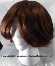 NEW BROWN SHORT HAIR HAND MADE LATIN/AA TANGLE FREE WIG BBW2