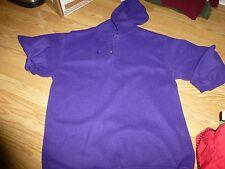 Men's Purple Hooded Solar Fleece Size Large