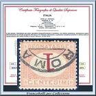 1870 Italia Regno Segnatasse cent. 1 Cifra Capovolta n. 3b Certificato Usato