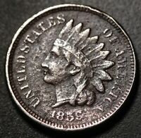 1859 INDIAN HEAD CENT - With LIBERTY - VF VERY FINE Details