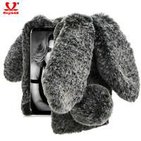 Cute Bunny Ear Soft Fluffy Furry Rabbit Plush Case Cover For Samsung A8 Plus J4