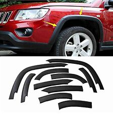 10 Pcs Wheels Fender Flares Cover Protector Molding For Jeep Compass 2011-2017