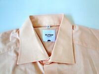 Olymp Tendenz Herren Hemd Langarm Orange Unifarben KW41